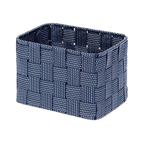 Compactor Home ran8561pequeña Cesta, Correa Trenzada, Azul, 19x 14x 13cm