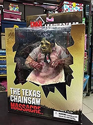 WXxiaowu Mezco Saw The Texas kettingzaag bloedbad leergezicht Texas kettingzaag bloedbad PVC Action Figuur Verzamel Model Speelgoed 23cm