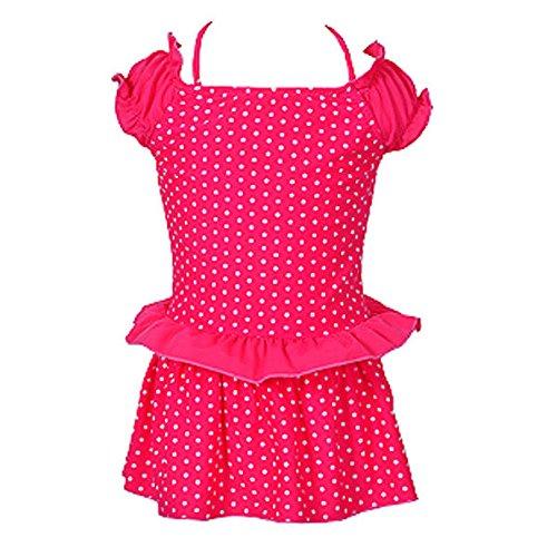 Bazaar meisje zwemmen kleding stip roze groen kind badpak