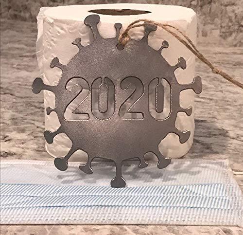 2020 Covid Metal Christmas Ornament