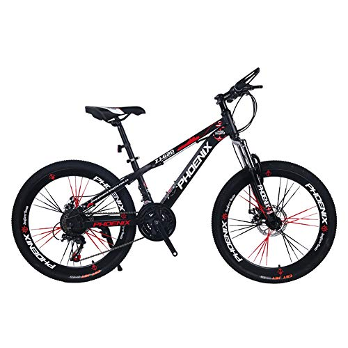 JAD@ Children's Bicycle 24 Inch Variable Speed Mountain Bike 12-17 Years Old Boys and Girls Student Cycling Bicycle (Color : Black)