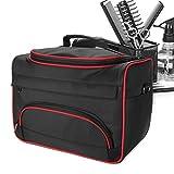 Kit di strumenti di parrucchiere, moda avanguardia di grande capacità pro parrucchiere attrezzature per capelli salone strumento borsa da viaggio custodia da viaggio borsa(Black)