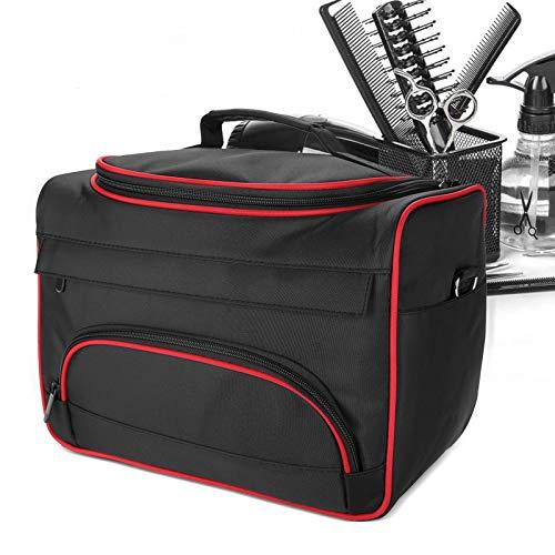 Trousse à outils de coiffure, mode Avant-garde de grande capacité Pro Equipement de coiffure Equipement de coiffure Outil de transport Sac de rangement de voyage(Black)