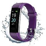 Showyoo Fitness Pulsera de Actividad Inteligente Impermeable IP68 con Pantalla Color, Pulsera Inteligente Pulsómetro, Cronómetros, Monitor de Sueño Podómetro GPS Reloj Deportivo Mujeres Hombres Niños