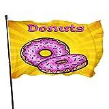 Bandera de jardín Donuts Banderas de bienvenida Decoración de temporada para el hogar al aire libre Bandera de guardia de...