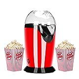 Macchina per popcorn elettrica Podazz con misurino 1200W sano Macchina per popcorn ad aria...