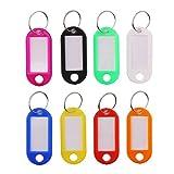 Set de 50 etiquetas de plástico Ccinee color arco iris para llaves e identificación de equipaje.