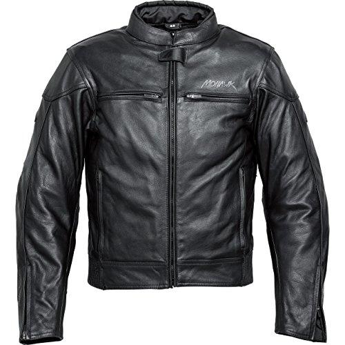 Mohawk Motorradjacke mit Protektoren Motorrad Jacke Touren Lederjacke 1.0 schwarz 52, Herren, Tourer, Ganzjährig