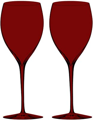 Sauvignon Blanc Wine Glass Set of 2 Red Full Color By TableTop King