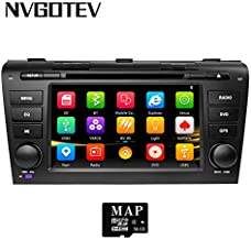 NVGOTEV Car Radio Stereo Fits for Mazda 3 2004-2009 7 Inch in Dash GPS Navigator Double Din Head Unit Support USB SD FM AM RDS Video Bluetooth SWC DVD CD Player