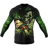 SMMASH Choker Rashguard Hombre Manga Larga, Camisetas Hombre para MMA, Artes Marciales, Krav Maga, BJJ, K1, Karate, Material Transpirable y Antibacteriano, (L)