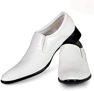 Vitoria White Slipon Formal Shoes for Men