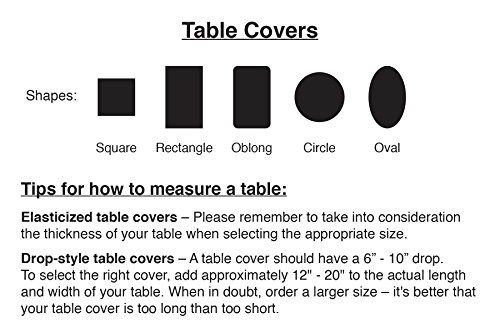 "Woven Lattice Vinyl Elasticized Table Cover 45"" - 56"" dia. Round"