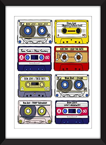 Classic Bon Jovi Albums - Unframed Print - Ideal Gift for Music Fan/Ungerahmter Druck