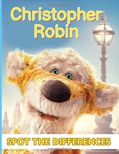 Christopher Robin Spot The Difference: Special Spot The Differences Activity Books For Adult (On-the-Go Book)