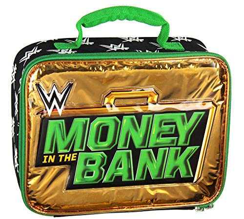 WWE Lunch Box Money In The Bank Briefcase Insulated Lunch Bag Tote