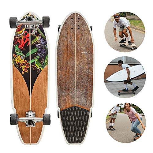 TIANDU Skateboard 32', Professional Land Surfboard, Carver Surfing Skateboard 32X9.8, City Road Land Cruiser, Complete Skateboard Assembly, Suitable for Surfing Enthusiasts