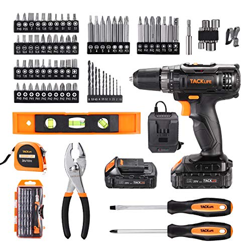 TACKLIFE Tool Set, 108 Pcs, Tool Kit for home, Professional Hand Tools Drill Set with Precision Screwdriver, Storage Case, Household Hand Tool Kit for Home Repair -PCD05T