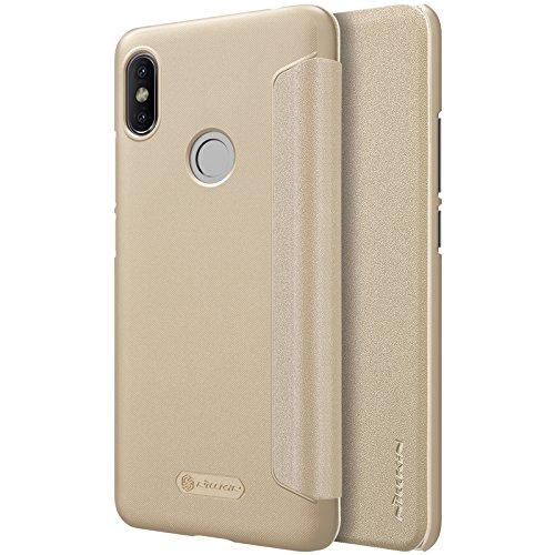 Funda® Ultra Delgado Inteligente Ventana PU Faux Cuero Flip Xiaomi Redmi S2 (Oro)