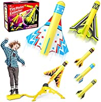 Jasonwell Toy Rocket Launcher for Kids Sturdy Stomp Launch Toys Fun Outdoor Toy for Kids Gift for Boys and Girls Age 5 6...