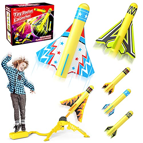 Jasonwell Toy Rocket Launcher for Kids Sturdy Stomp Launch Toys Fun Outdoor Toy for...