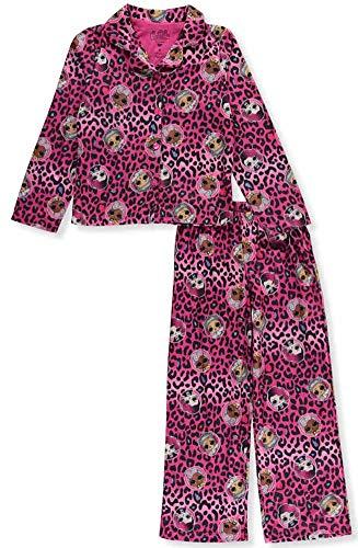 L.O.L. Surprise! Girls' Big 2-Piece Pajama Coat Set, Cheetah Pink, 10