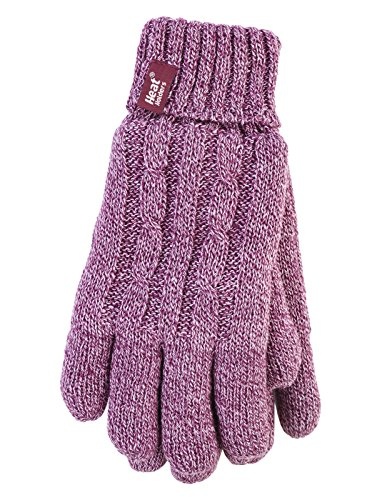 HEAT HOLDERS - Damen Thermisch Winter Handschuhe in 7 Farben (M/L, Rosa)