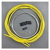 Cable Accesorios de Bicicleta Kit de línea de Freno MTB Bike Bike Bicicletas Cable Cable Set Set Kit Cable De Freno (Color : Yellow)