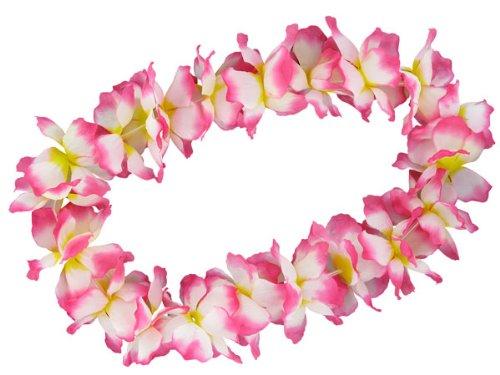 Hawaï Multicolore Collier de fleurs Hula Deluxe toutes les couleurs, Choisir: Jaune Blanc Rose 18