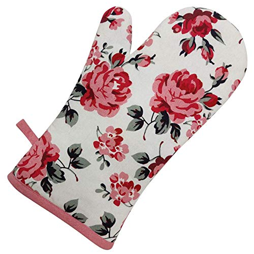 Shaws Direct Single Oven Glove/Mitt (Rose)