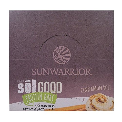 Proteína sunwarrior sol Good bares (12x 62g) Cinnamon Roll