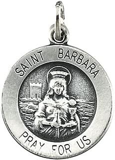 Sterling Silver St. Barbara Medal