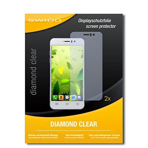 SWIDO 2 x Bildschirmschutzfolie Jiayu G5S Schutzfolie Folie DiamondClear unsichtbar