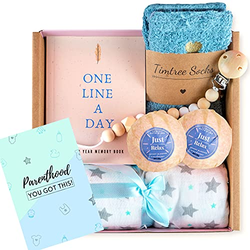 Becta Design - New Mom Gift Basket. Each Beautifully Prepared Gift Set Contains 5 Hand Picked Essentials for Expecting Mothers. The Perfect Gifts for Pregnancy, First Time Moms or Baby Shower