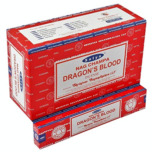 YesMandala Incienso Satya Nag Champa - Dragon´s Blood - 12 Cajas x 15g -