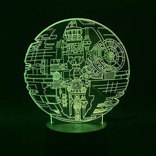 Led-nachtlampje, 3D-vision-zeven, kleuren-afstandsbediening, klein nachtlampje voor kinderen, planeet, licht, slaapkamer, nachtlampje, kinderen, bijzonder geschenk, acryl, decoratie, nachtlampje voor meisjes