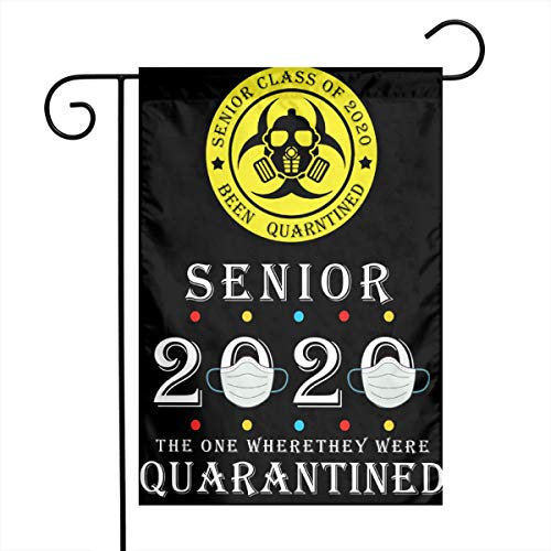hlhhing Senior Class of 2020 Quarantined Graduation Toilet Paper Flag Gift Yard Garden Flags Single Sided Outdoor Sign Decorative Banners 1218 Inch