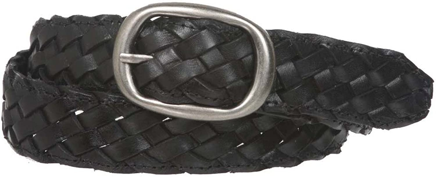 1 1 4  Braided Woven Leather Oval Belt