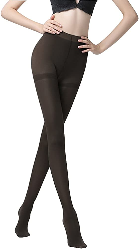 Opaque Control Top Tights for Petite Women 160 Denier Thick Footed Tights Warm Pantyhose Stretch Microfiber Tights Matte
