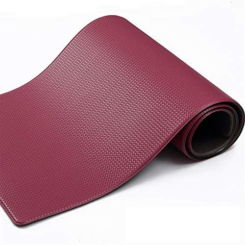Color&Geometry Tappeto Cucina Antiscivolo, PVC Tappeto Runner Antiscivolo, Impermeabile, Resistente all'olio Durevole Tappetino zerbino Lavabile - 45 x 200 cm, Rosso