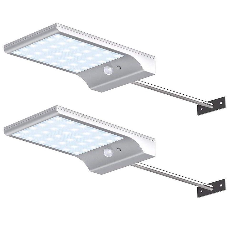 威信脆い迅速36 LEDソーラーライト屋外、超薄型モーションセンサーセキュリティライト、防水壁コンセプス、ガーデンドライブウェイフロントドア用,白