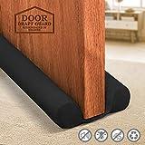 Holikme Twin Door Draft Stopper Weather Stripping Window Breeze Blocker Adjustable Door Sweeps 34inch Black