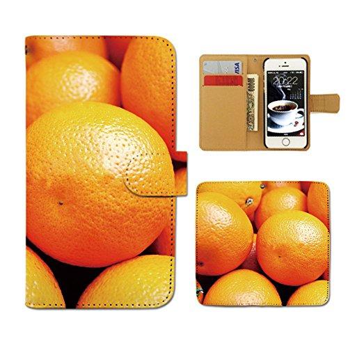 OPPO Reno A OPPORenoA ケース 手帳型 カラフル 手帳ケース スマホケース カバー フルーツ 果物 オレンジ みかん E0004030112601