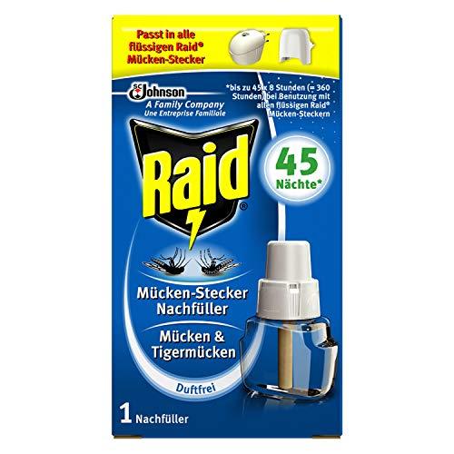 Raid Insekten Stecker Nachfüller, Mückenschutz, duftfrei, 45 Nächte, 1er pack