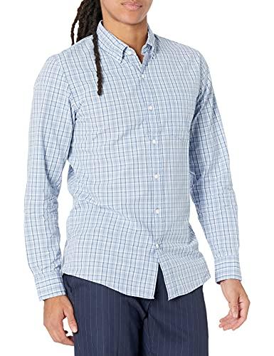 Sleeve Plaid Poplin Shirt