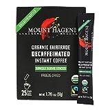 Mount Hagen Organic Instant Decaf Single Serve, Dark Chocolate, 25 Count, 1.76 Ounce