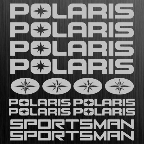 myrockshirt Polaris Sportsman Aufkleber Sticker Quad ATV 14 Stücke ca.30cm Aufkleber Autoaufkleber Sticker Decal ohne Hintergrund UV&Waschanlagenfest
