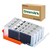 GREENARK Compatible Ink Cartridge Replacement for Canon CLI-251 GY Gray CLI-251GY XL Gray Ink Cartridge Work for Canon PIXMA MG6320 Pixma MG7120 Pixma MG7520 Pixma IP8720 Printers, 4 Pack 251XL GY