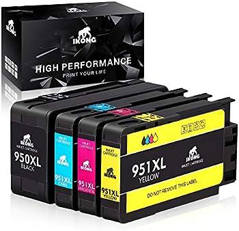 4-Pack IKONG HP 950XL/951XL Compatible Ink Cartridge