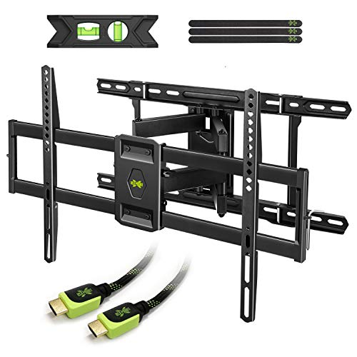 "USX MOUNT Full Motion TV Mount Wall Bracket for 42""-80"" Flat Screen LED LCD 4K TV, Tilt Swivel TV Mounts with Articulating Arms Max VESA 600x400mm, Weight Capacity 110lbs Up to 24"" Wood Stud"